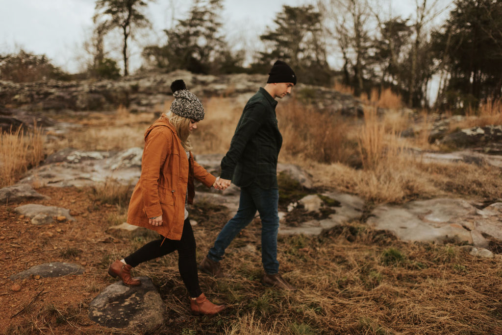 adventurous engagement session at a boulder field in alabama 83.jpg