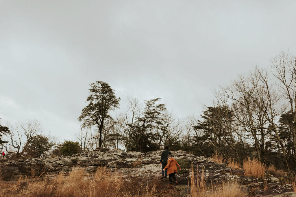 adventurous engagement session at a boulder field in alabama 84.jpg