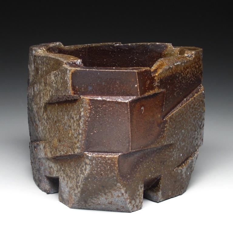 "27. Triangular Planar Cleavage.  2010. Stoneware, wood-fired. 6"" x 7.5"" x 6.5"".$250.jpg"