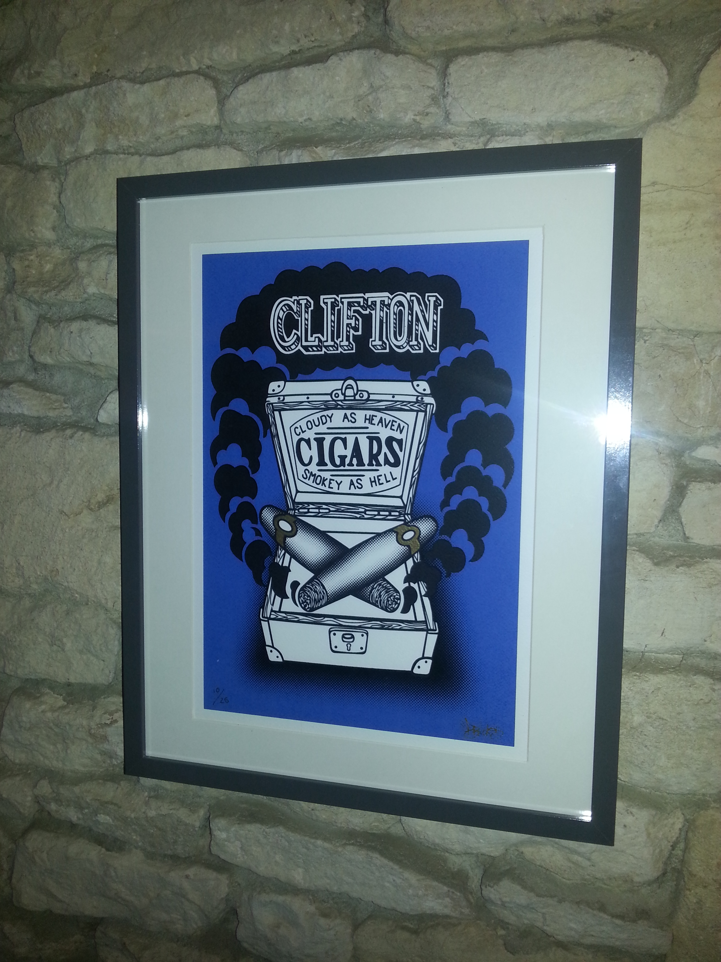 Clifton Cigars Print (2015)