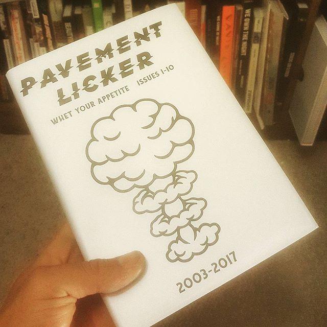 This beast from @pavementlicker  arrived today... #art #design #zines #streetart #book