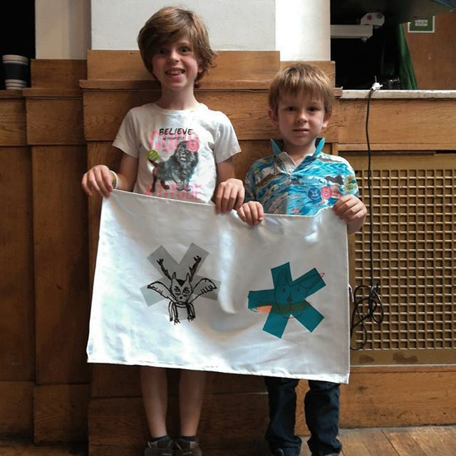 Very cool kids at todays #screenprinting workshop for @londonnpc at Conway Hall. Loads of awesome prints and hand drawn spirit animals. #printmaking #printspotters #workshop #craftevent #artworkshop #spiritanimal