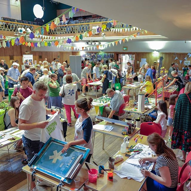 Great shot of the #nationalparkcity fair a couple of weeks ago #printmaking #screenprinting #printspotters #liveprinting #workshop #events #artworkshop