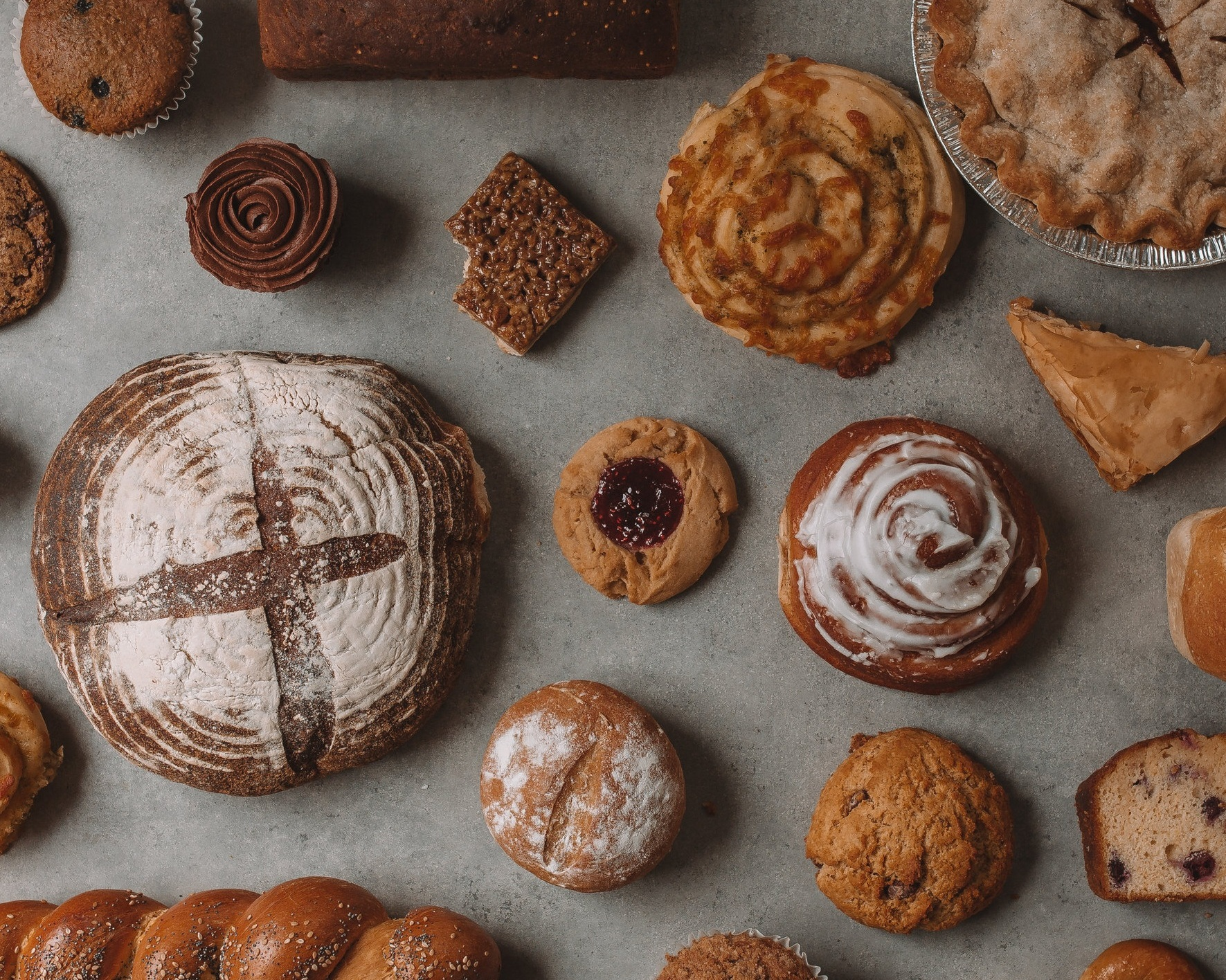 Bakery  Our talented bakers are up at the crack of dawn every morning making a delicious assortment of from-scratch and gluten-free goods including bread, cookies, muffins, cupcakes, and pastries.     Bread Schedule    Special Orders