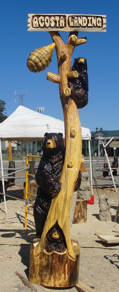 3 Bears with beehive
