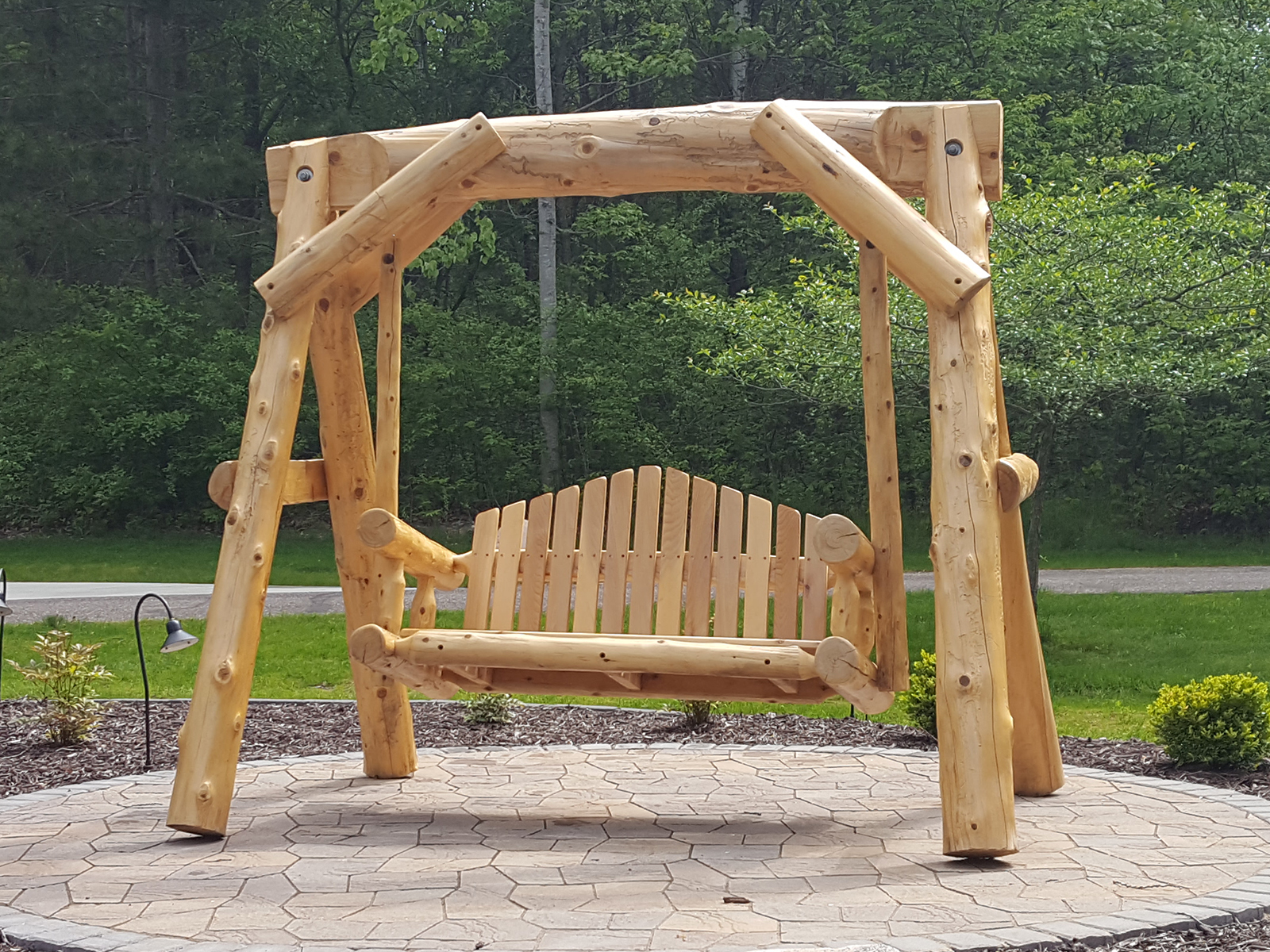 Soderlund\'s Wood Mill | Cedar Log Swings, Beds, And More ...