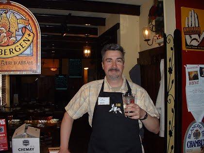 Stu teaching his Belgian Beer Me! beer appreciation class in Philadelphia.