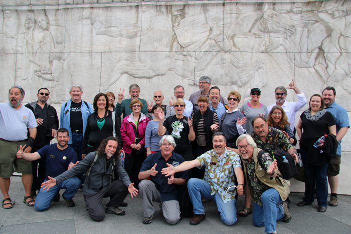 The Legendary Zythos Beer Festival Tour Celebrator Beer News Edition '15. Celebrator Publisher Tom Dalldorf front row, right, next to Stu in Hawaian shirt.