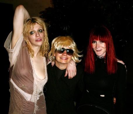 Courtney Love, JT LeRoy (Savannah) and Speedie (Laura Albert)