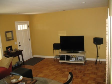 Before, the TV was located in the entryway.