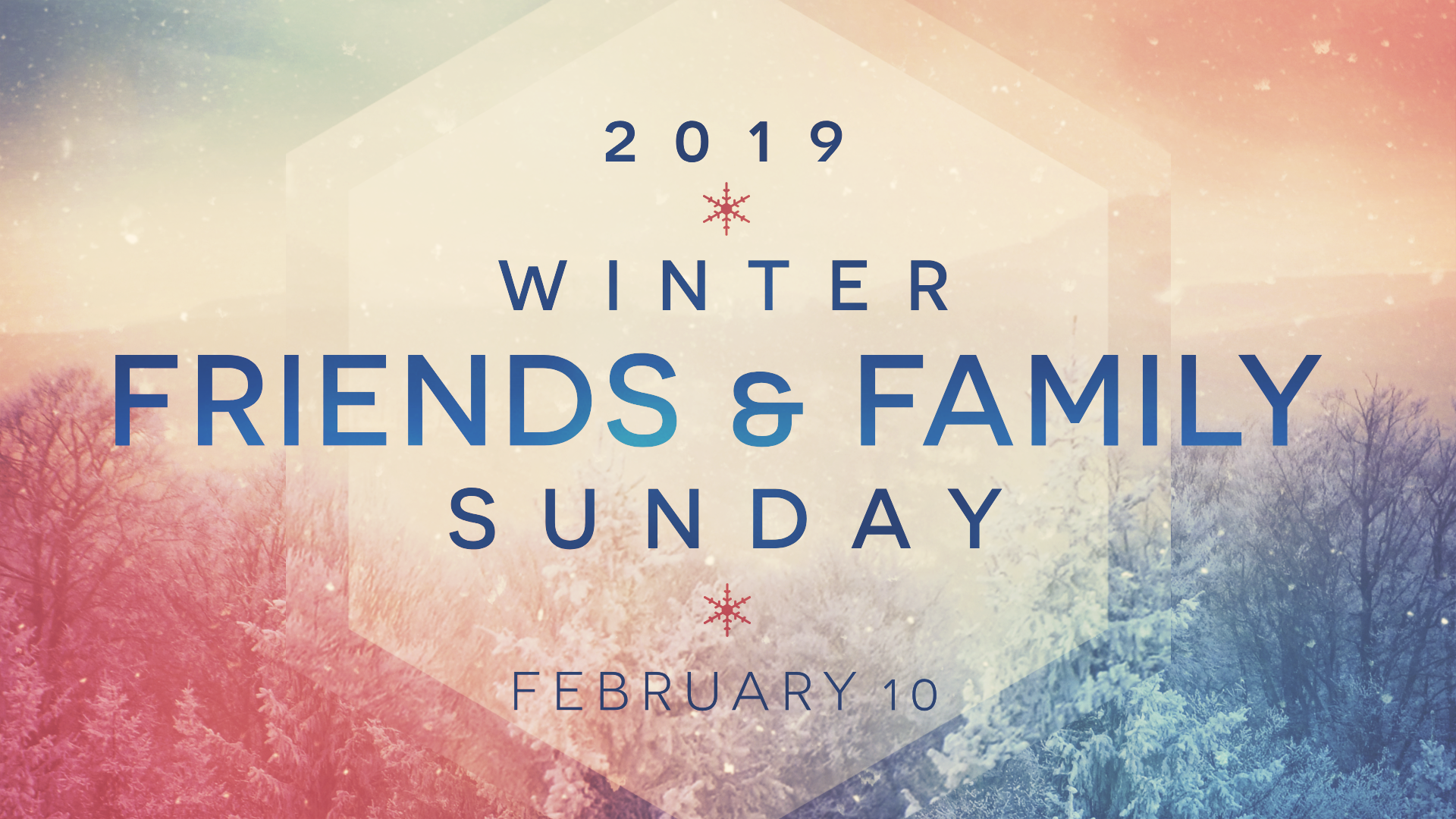 winter friends and family sunday