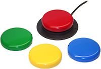 TheJelly Bean  twist  offers the original Jelly Bean's 2.5-inch activation surface with tactile and auditory feedback, but with a  twist . Our iconic switch tops can be removed and replaced with the color of your choice: Red, Blue, Yellow, or Green. It's all up to your own style, tastes, or specific vision needs.