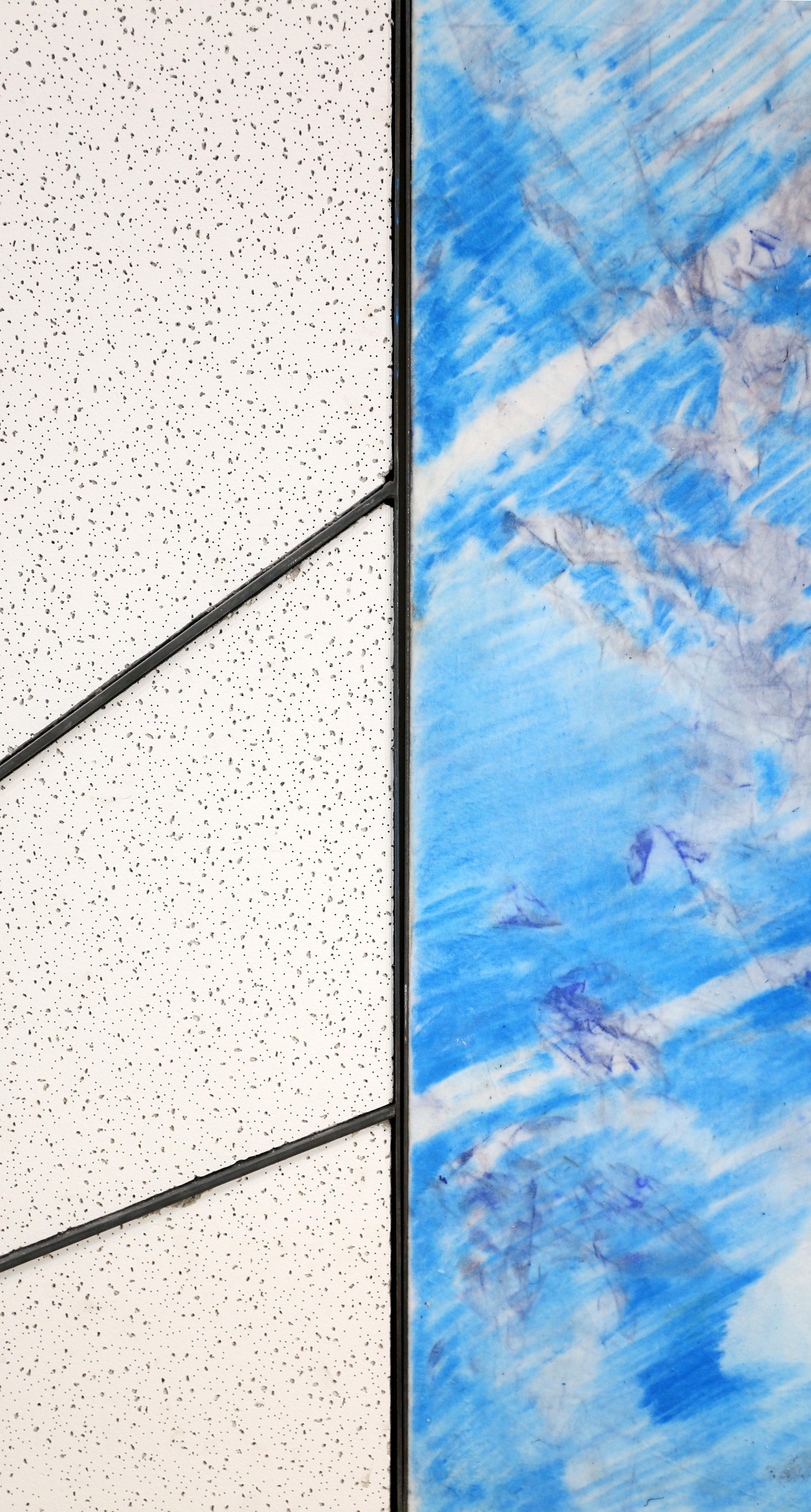 Air Quotes  Drop Ceiling Tile, Steel, Velvet, Pastel 4'x4'