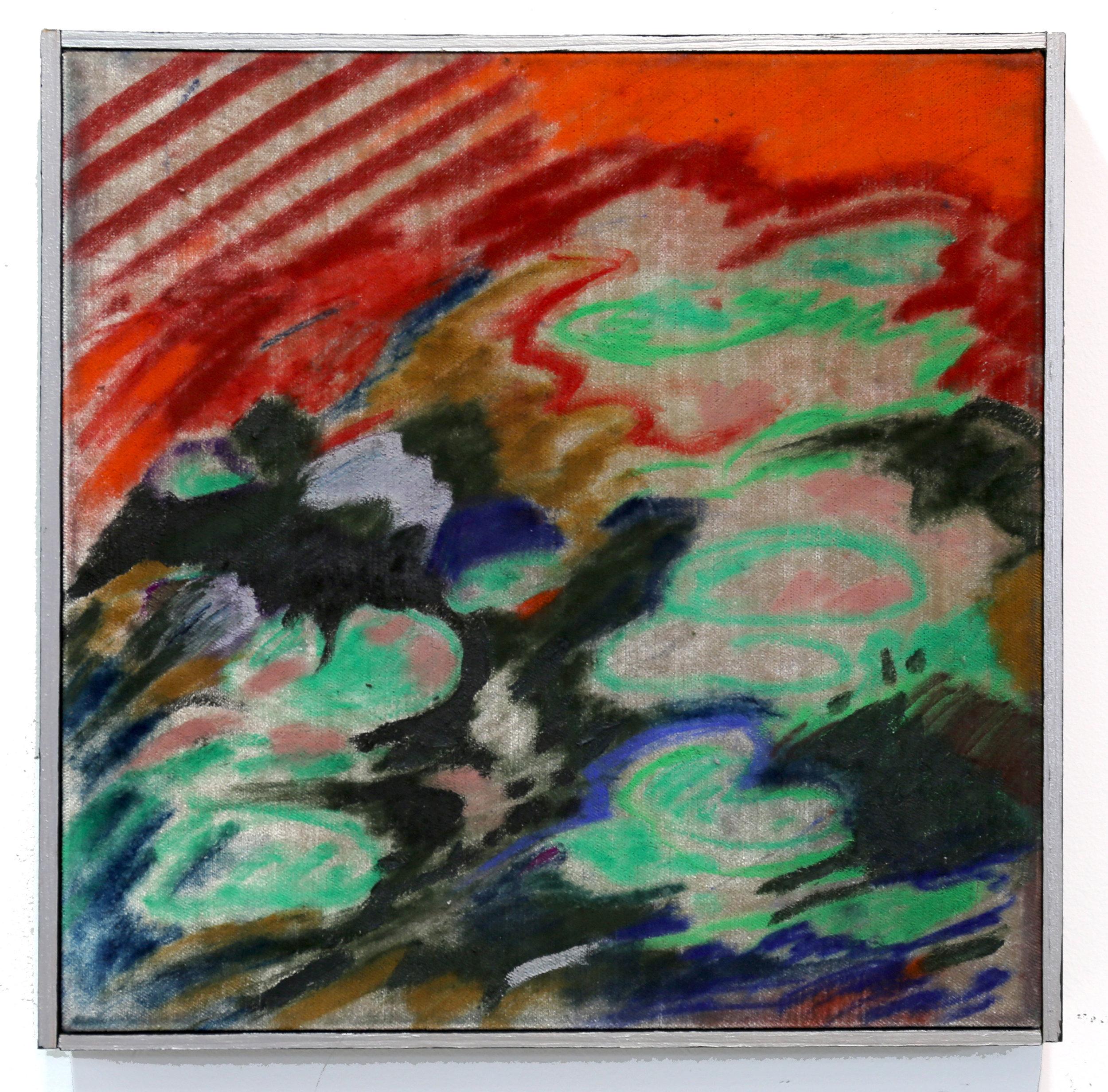 """Memories of the Garden, Pastel on Velvet 14""""x14"""""""