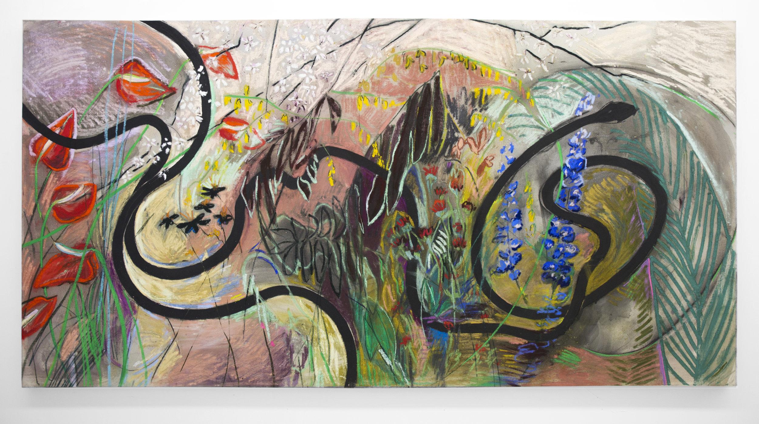 Garden of Original Sin, 4'x8' pastel on canvas