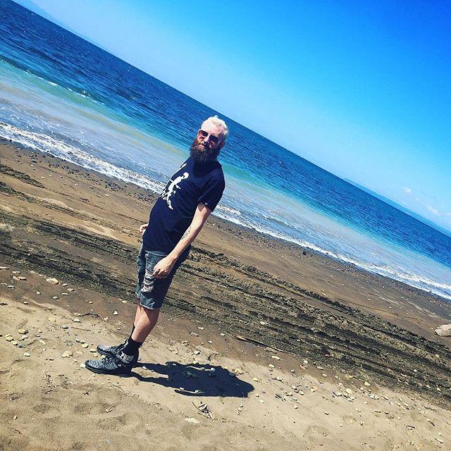 Wearing pretty much all black on the beach in Costa Rica. #nobeachbody