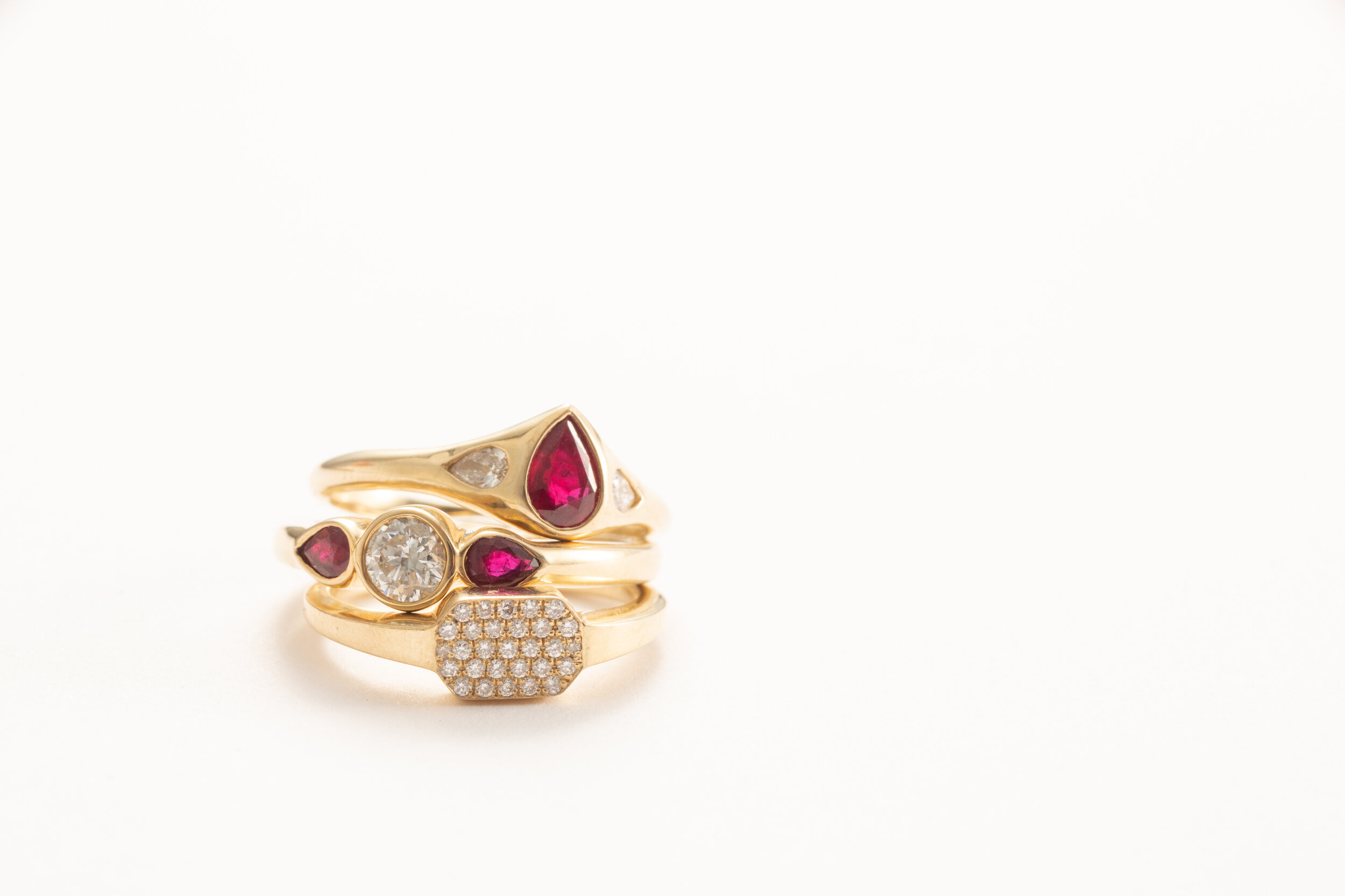 "#6 GIVE ETERNAL DEVOTION - ""Some favorites for engagement rings in a technicolor assortment of hues."" Forbes (featuring Ruby Julienne)"