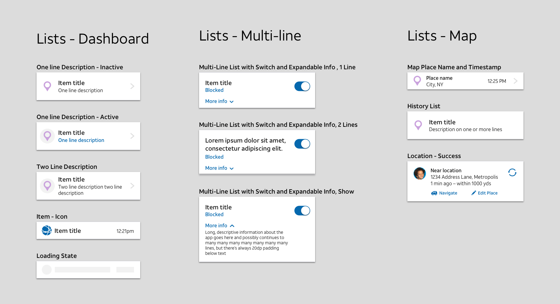 AT&T - Branded Component Library