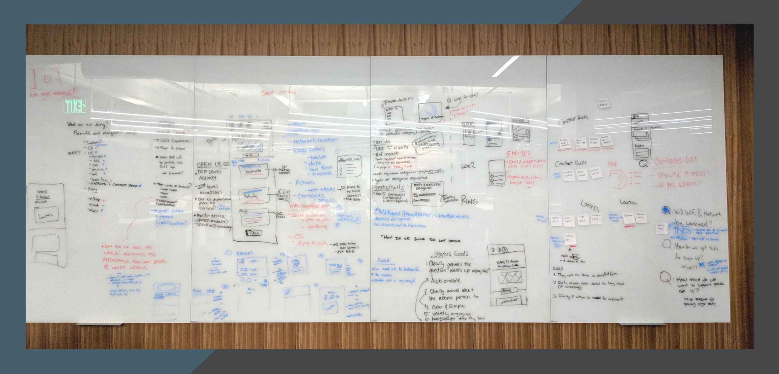 Sketching UI and listing goals for each segment of the app