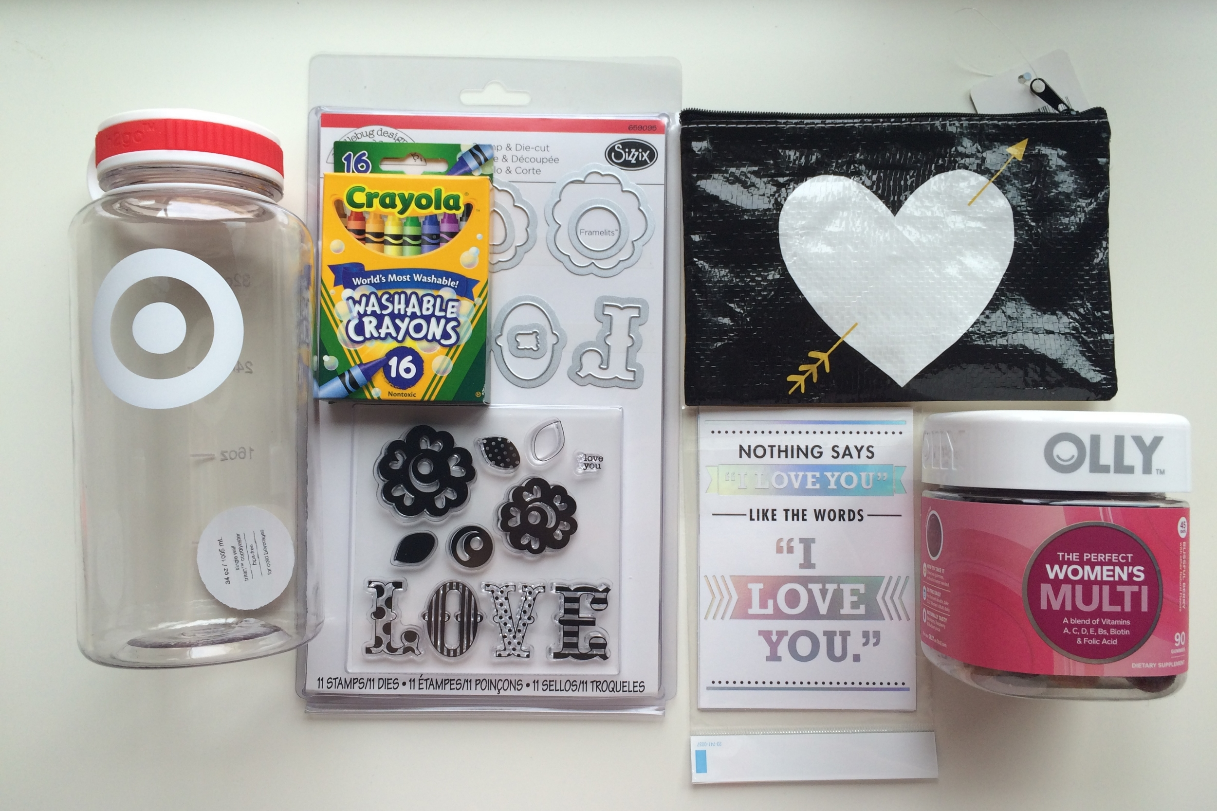 "Just some of the goodies from my ""swag bag"". Thanks Target and Michaels!"