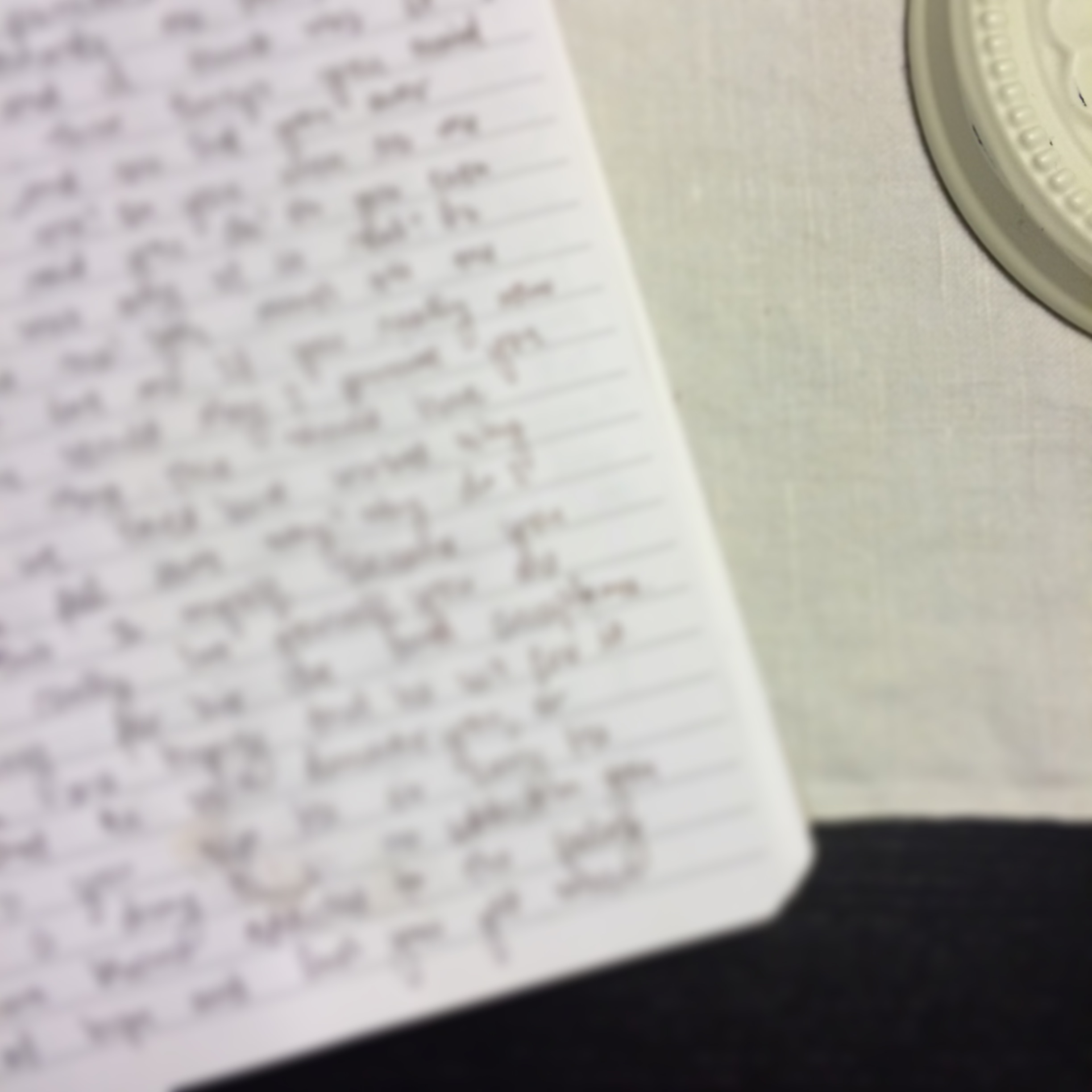 I finally started to enjoy/see the benefits of journaling on a regular basis.