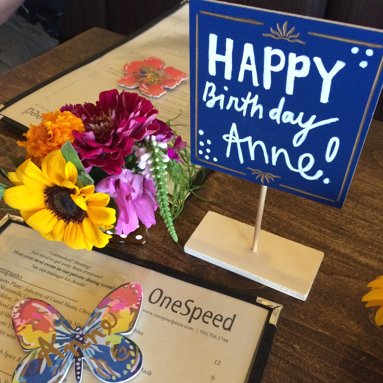 SURPRISE BIRTHDAY DINNER OUT. - SEPT. 2015