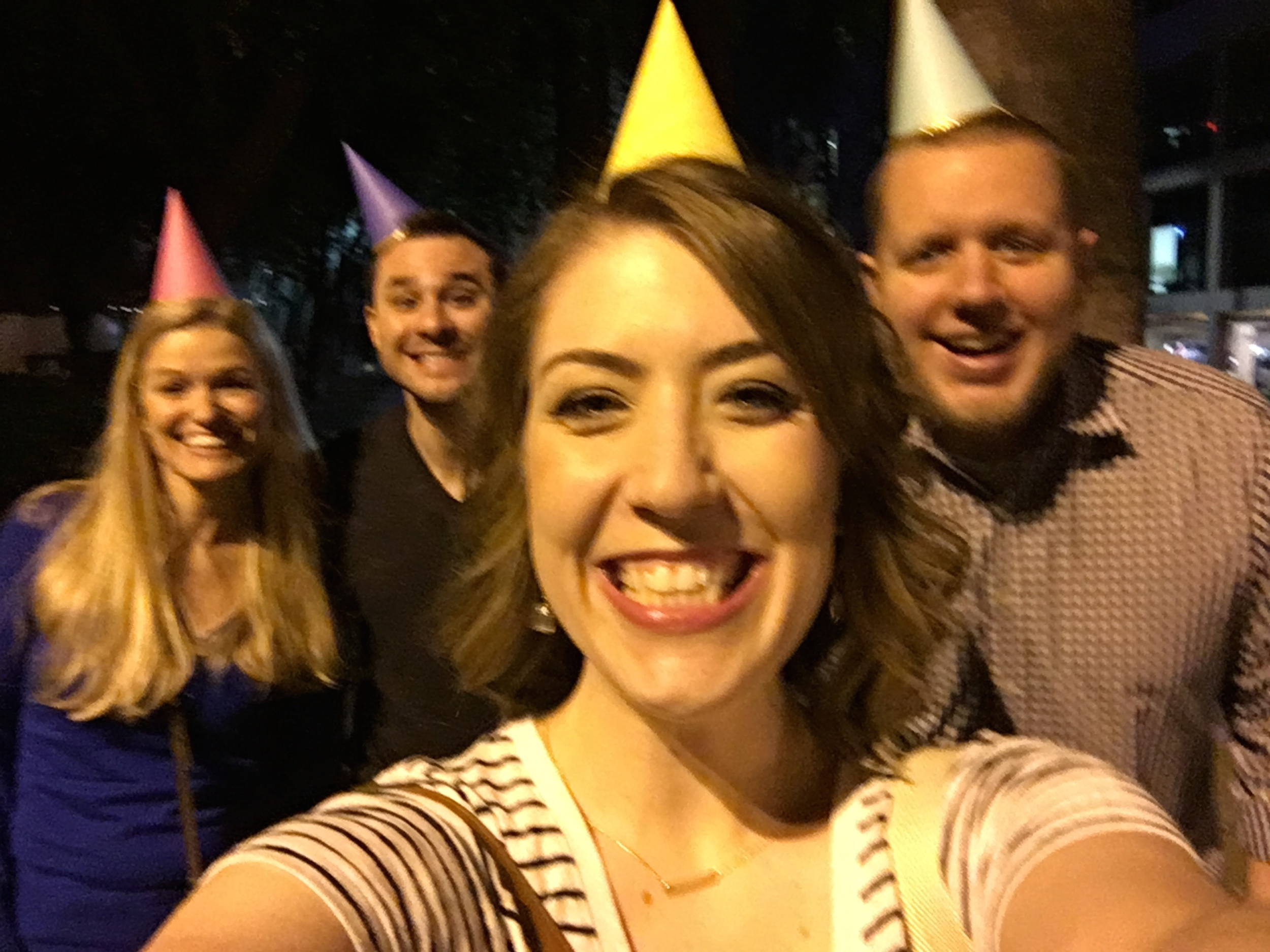 Party hats courtesy of Old Navy! Such a great find for $8/ 6 pack.
