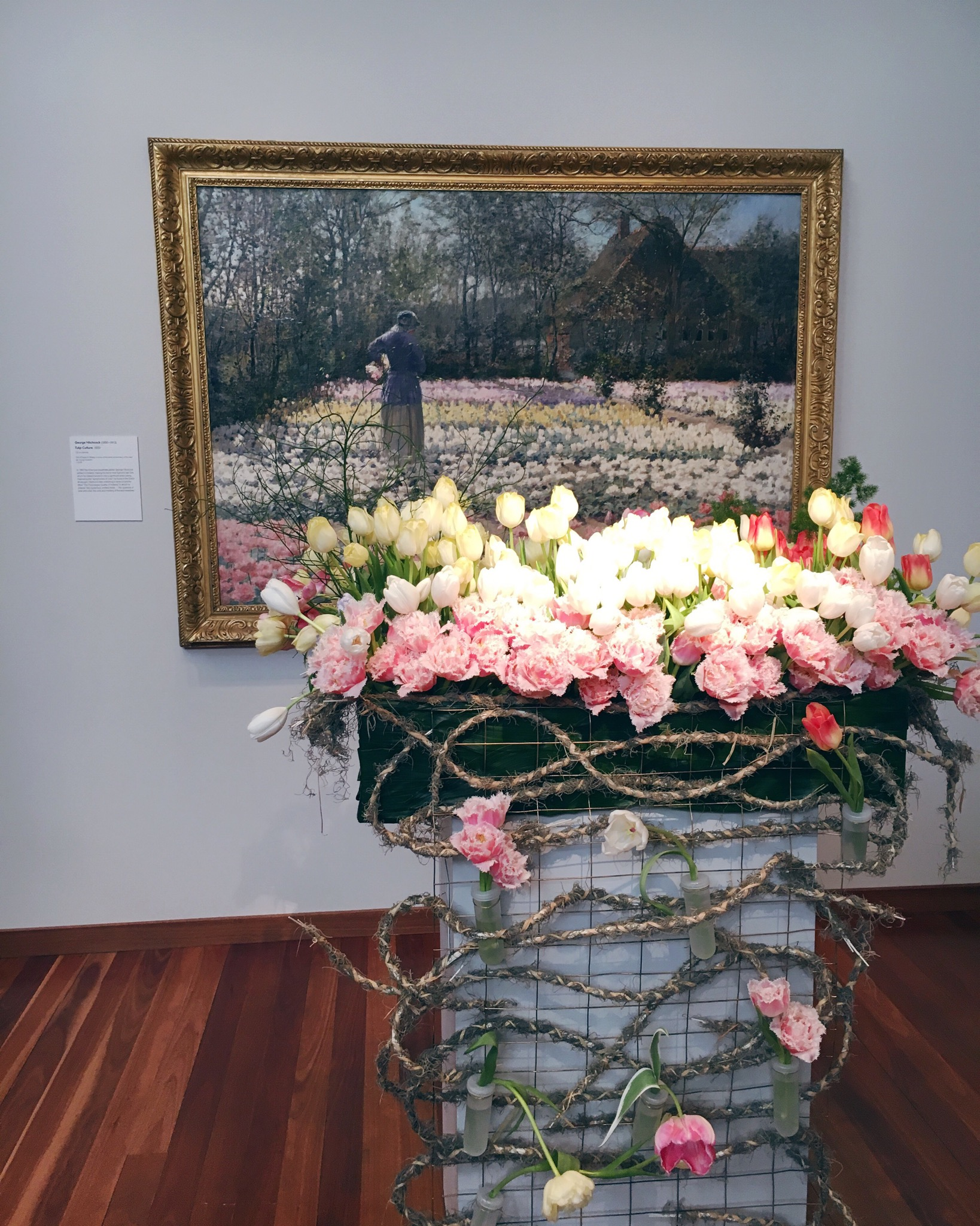 Our favorite combo of the entire day was this incredible tulip arrangement that felt like the painting come to life.