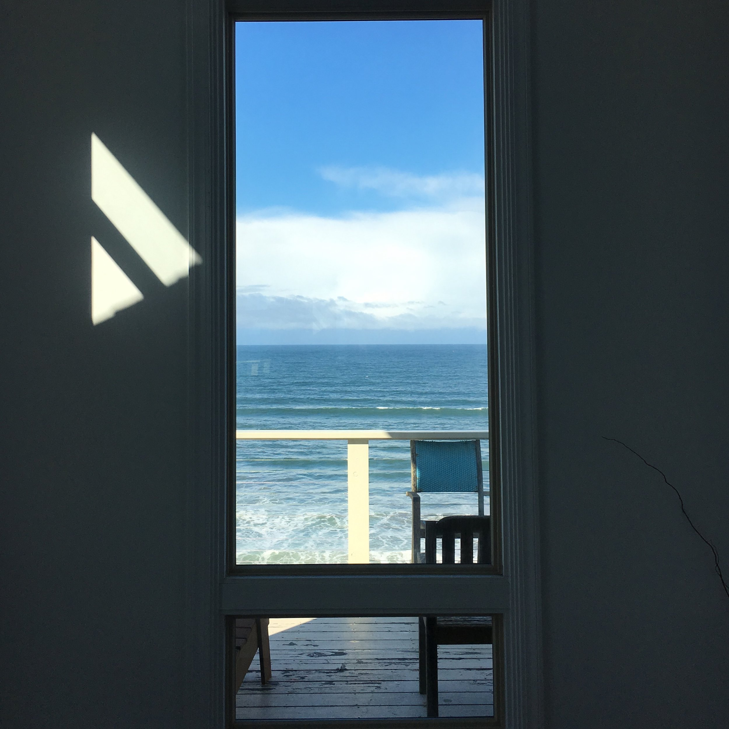 The view at my recent retreat. Our house looked out onto Dillion Beach and one night we saw dolphins swimming in the bay from the hot tub!