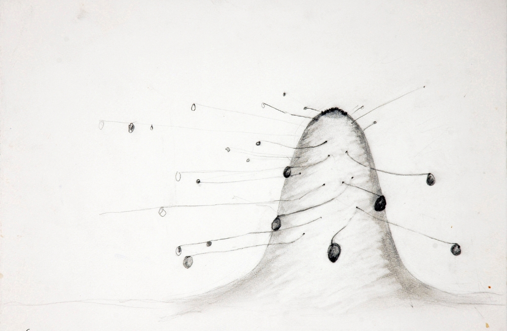 Mound Drawing  , 2005 Graphite On paper  11 x 15 in. (27.94 x 38.1 cm)