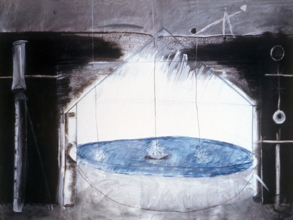 Basin  , 2010 Pencil and watercolor on paper 36 x 38 in. (91.44 x 96.52 cm)