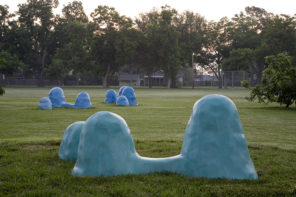 Blue Mounds,   2008 Site specific sculpture for  The St. Rose Project  Outdoor Sculpture Garden, St. Rose, LA