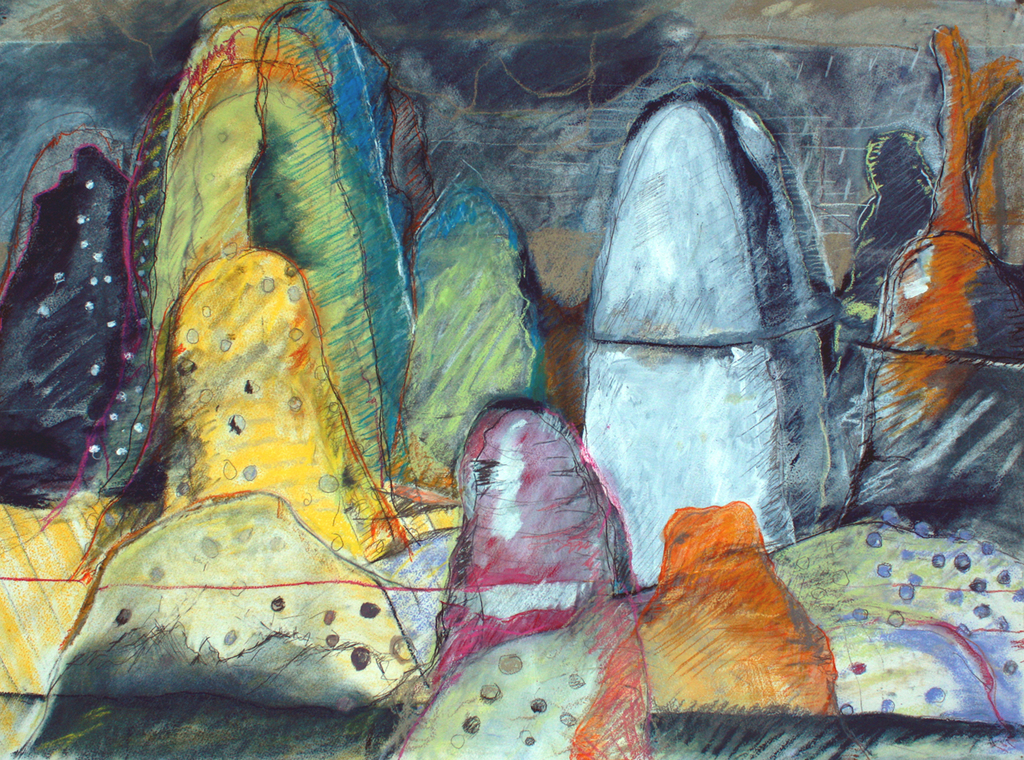 Cave  , 2012 Watercolor, pastel, and pencil on paper 23 x 30 in. (58.42 x 76.2 cm)