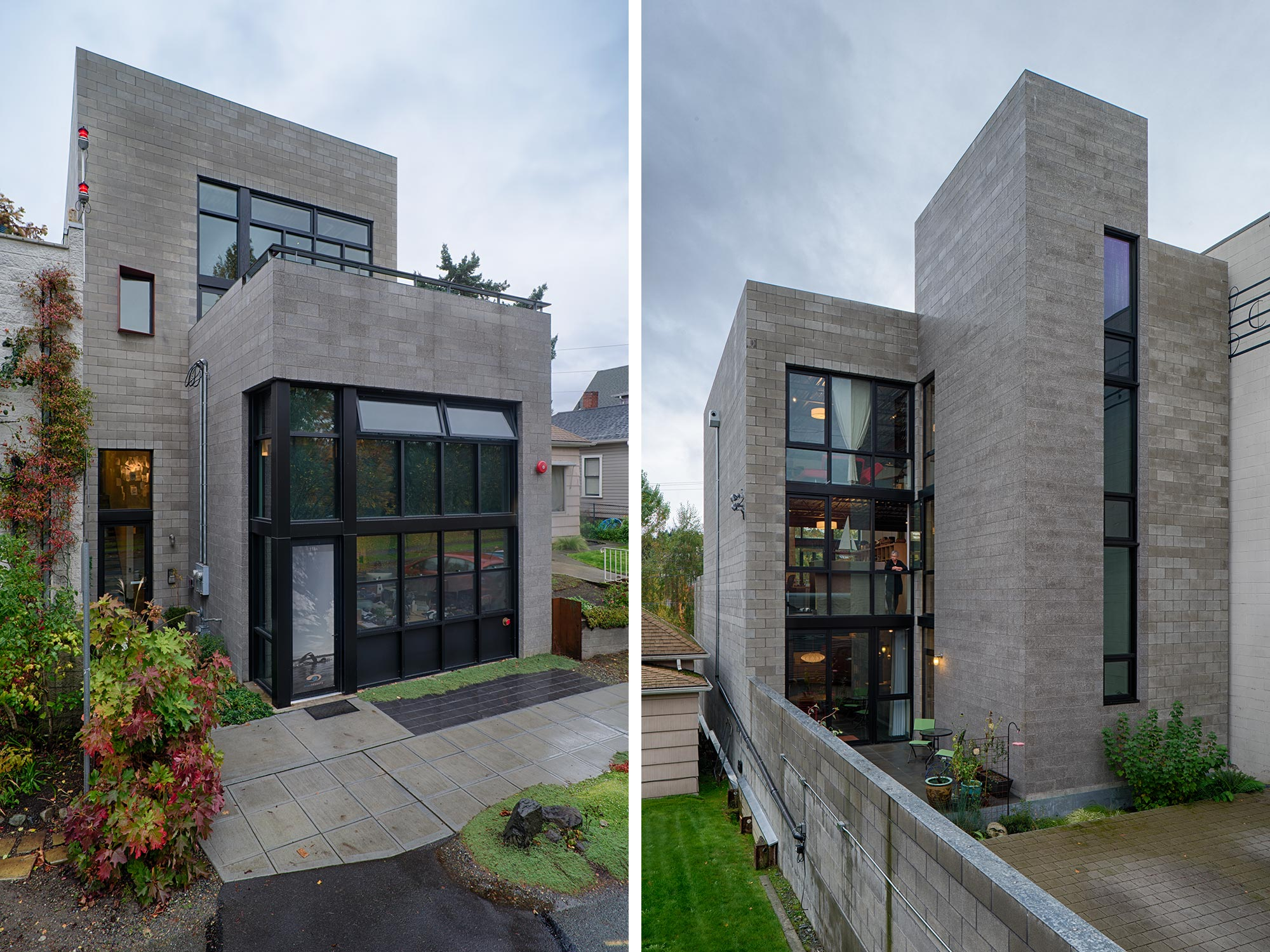 The Canale Studios is an urban, live work project overlooking the Fremont Ship Canal.
