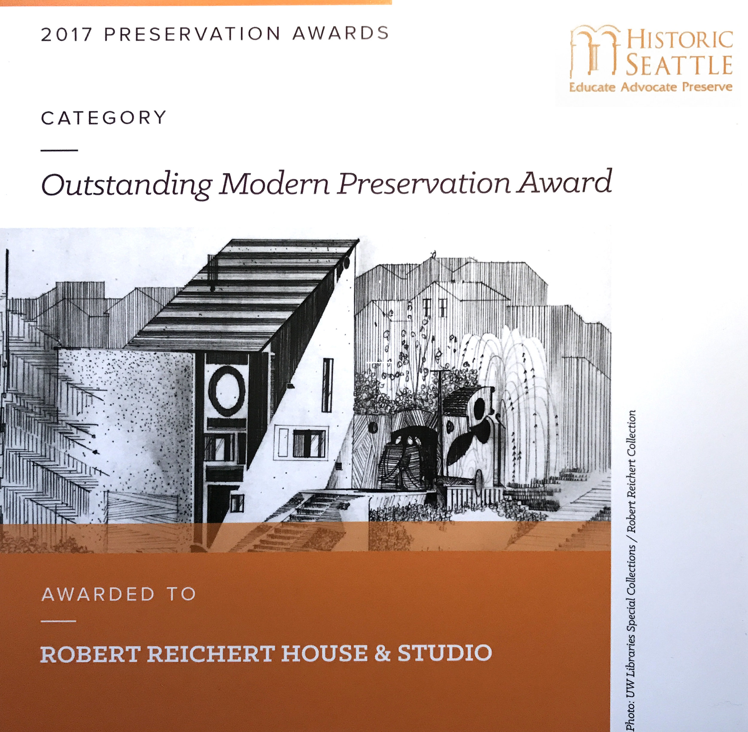 Historic Seattle - 2017 Outstanding Modern Preservation Award