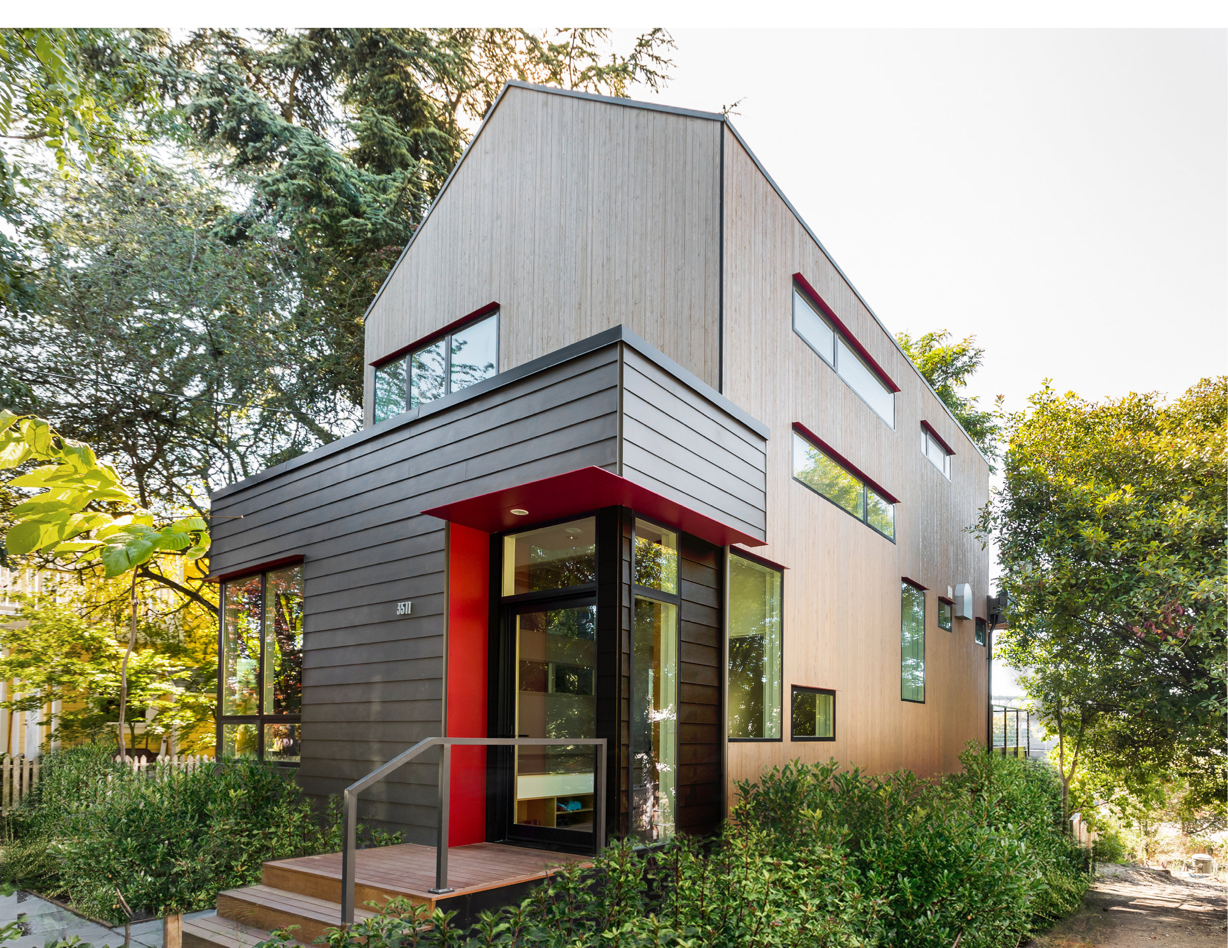 A serene modern oasis on a small urban lot, the Ashworth House is a renovation and second-story addition over a cottage originally constructed in 1912.