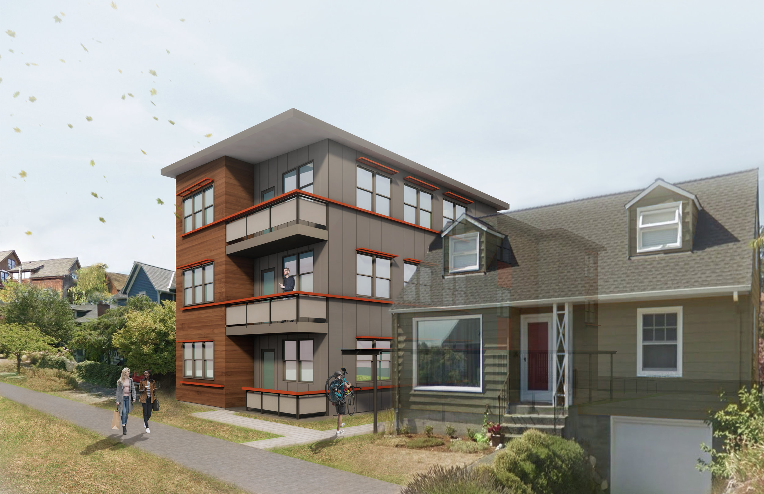 5-unit, 3-story apartment building - coming soon!