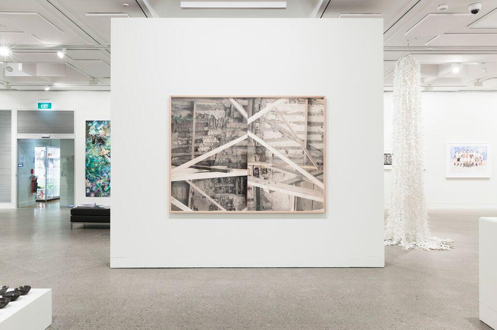 Installation view, Hazelhurst Art on Paper