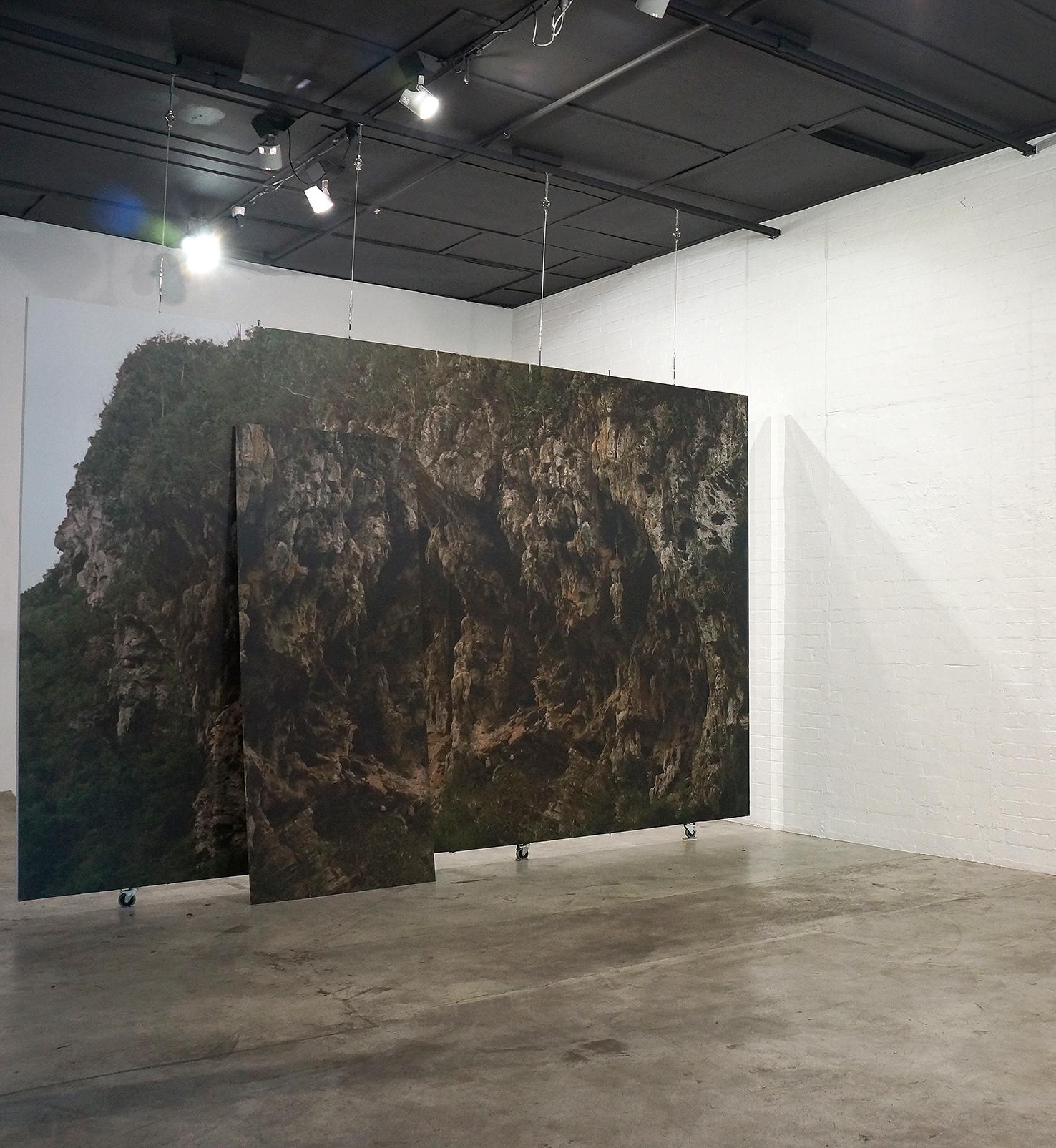 Izabela Pluta  Stone (reversal), 2017 pigment prints on vinyl and aluminium