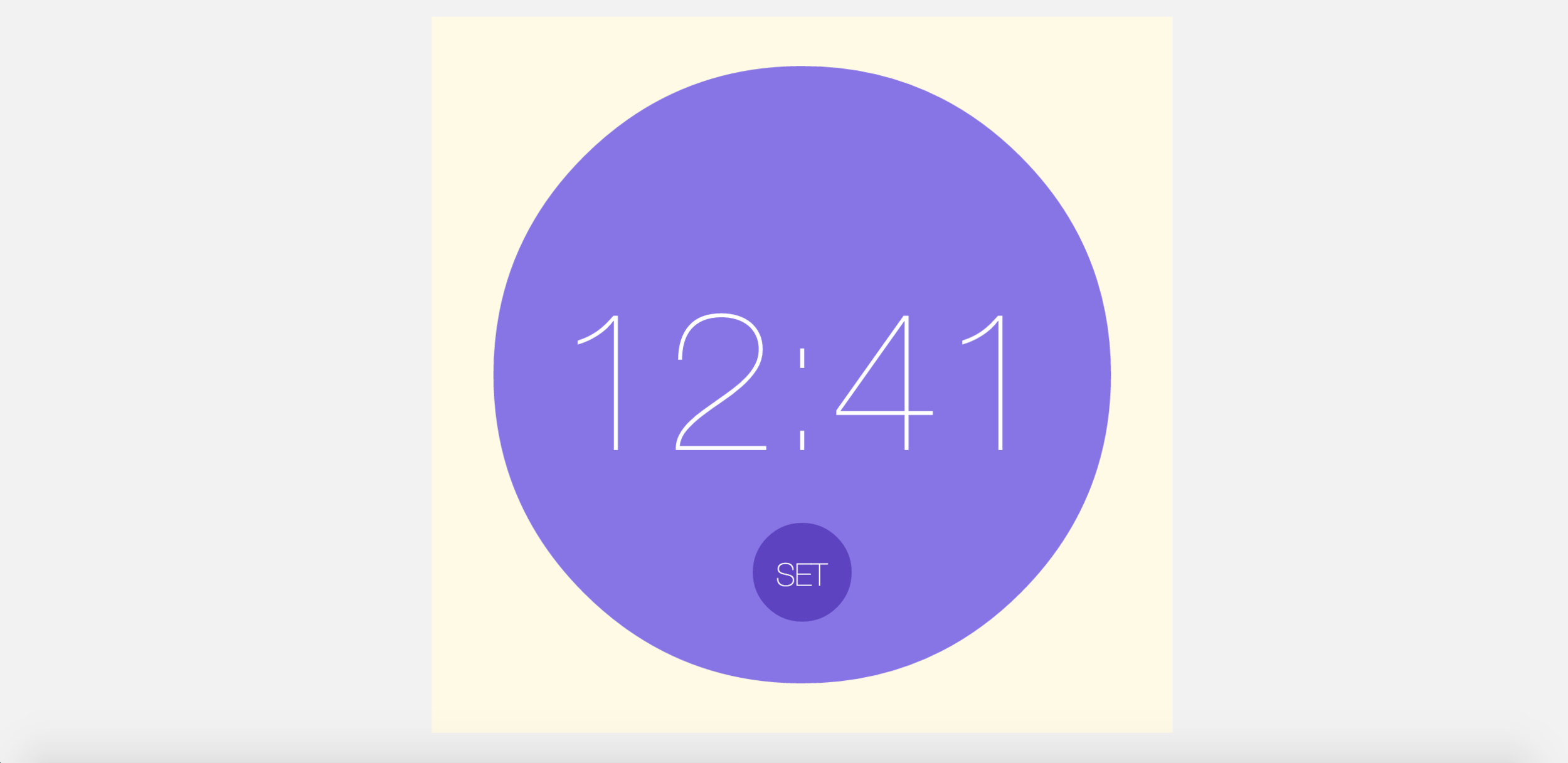 People can hit SET to set alarm.
