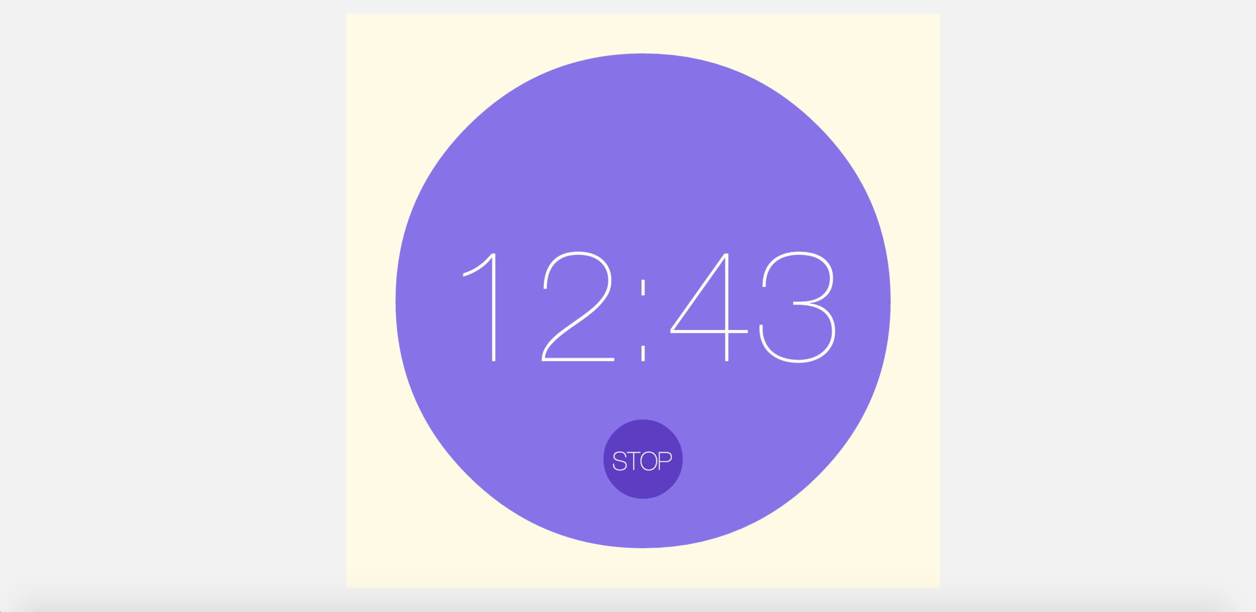When the alarm is on, the purple circle and the time will blink, and people can hit STOP button to stop the alarm.