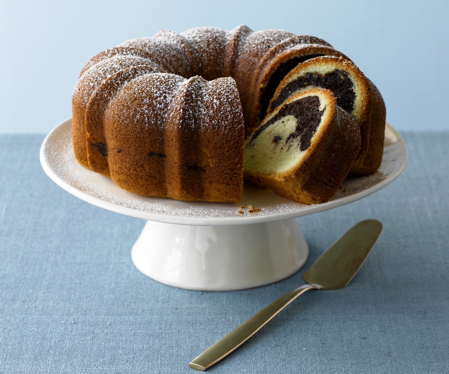 Rum-Scented Marble Cake