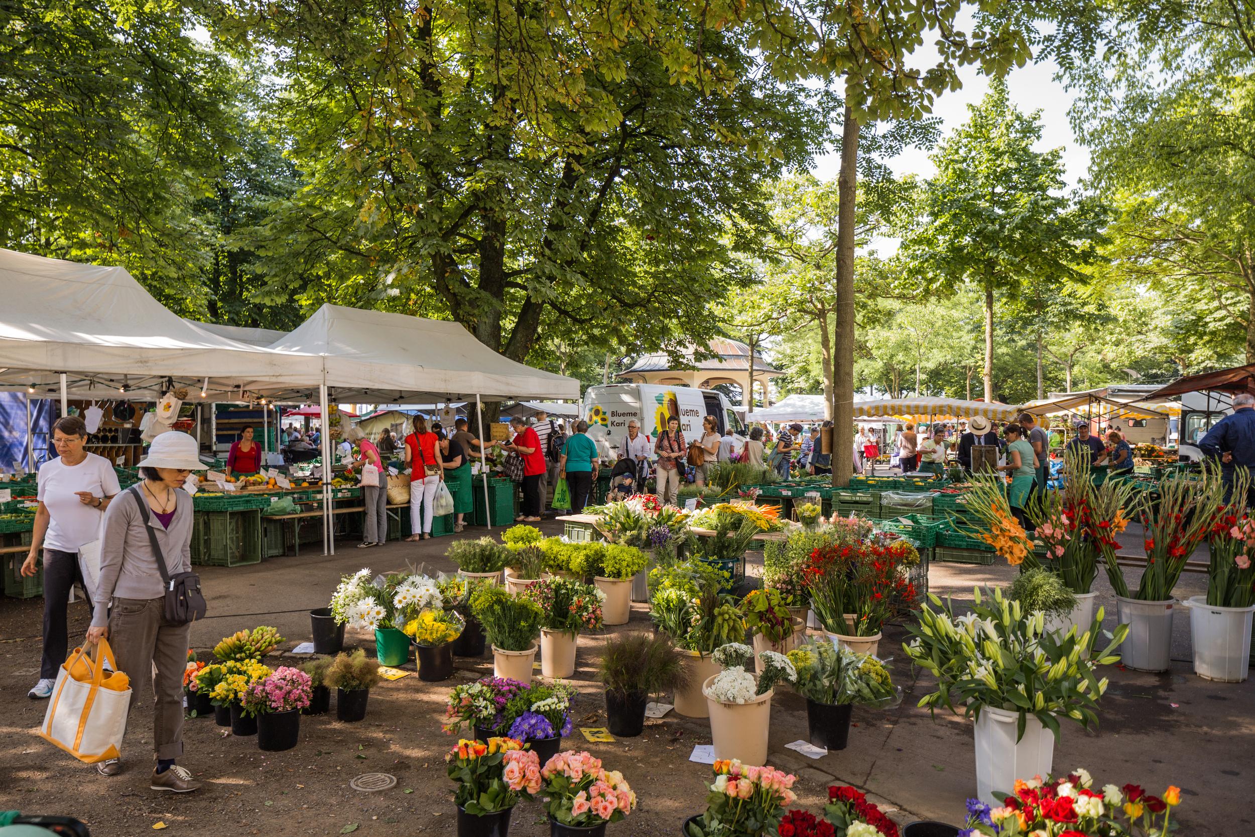 Friday flower market, Buerkliplatz