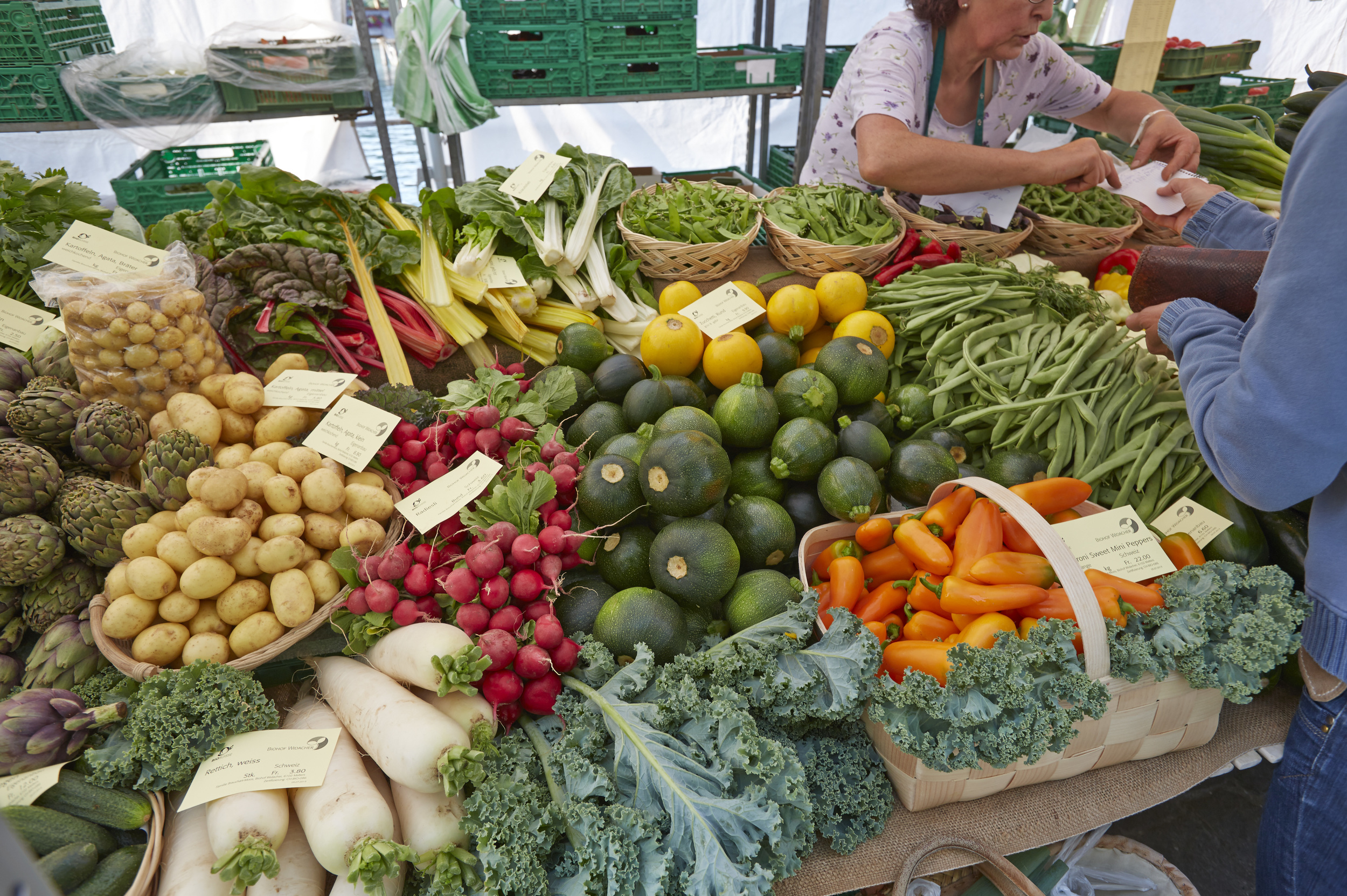 Weekend market, Lucerne