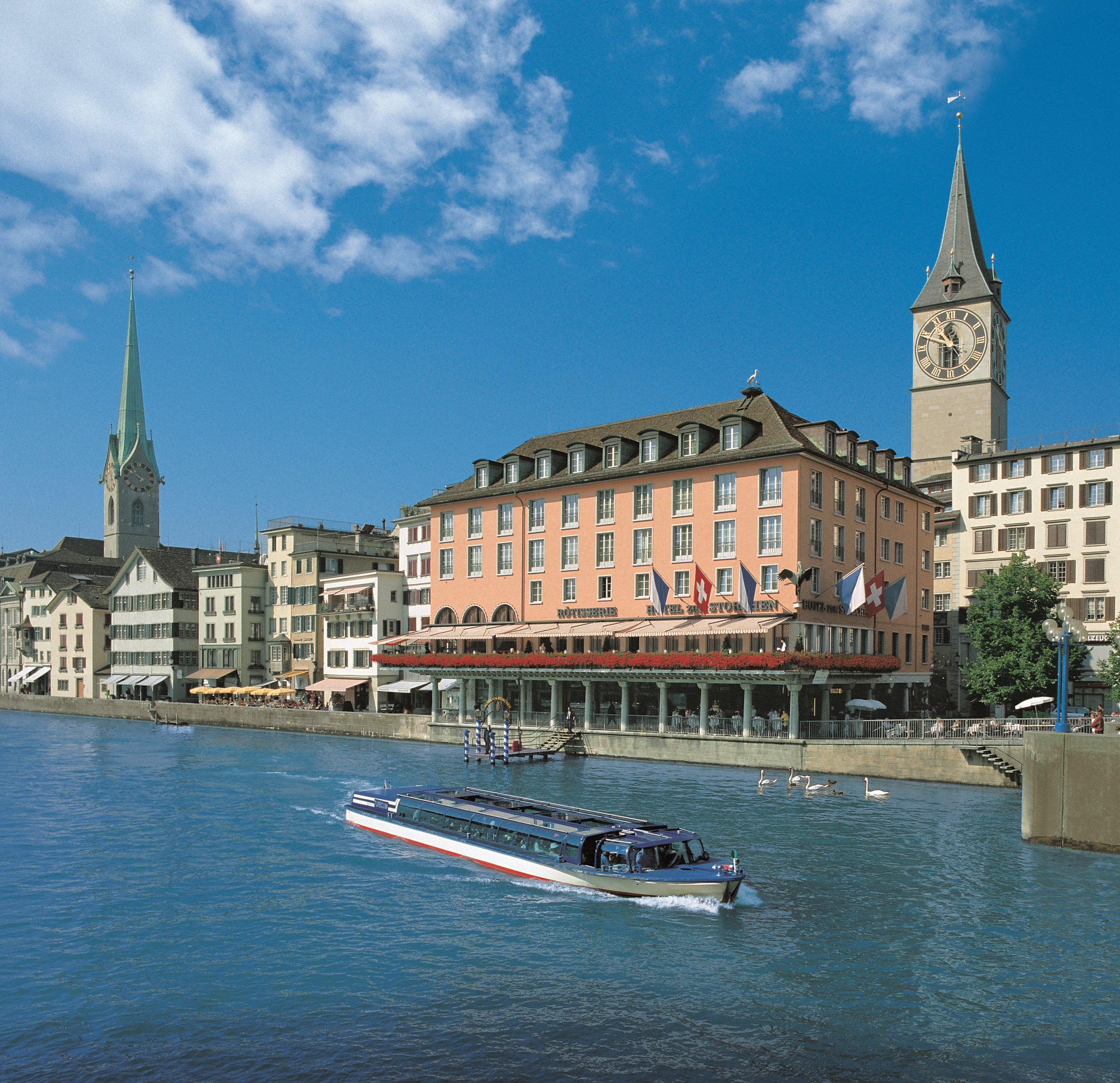 The Storchen on the Limmat River