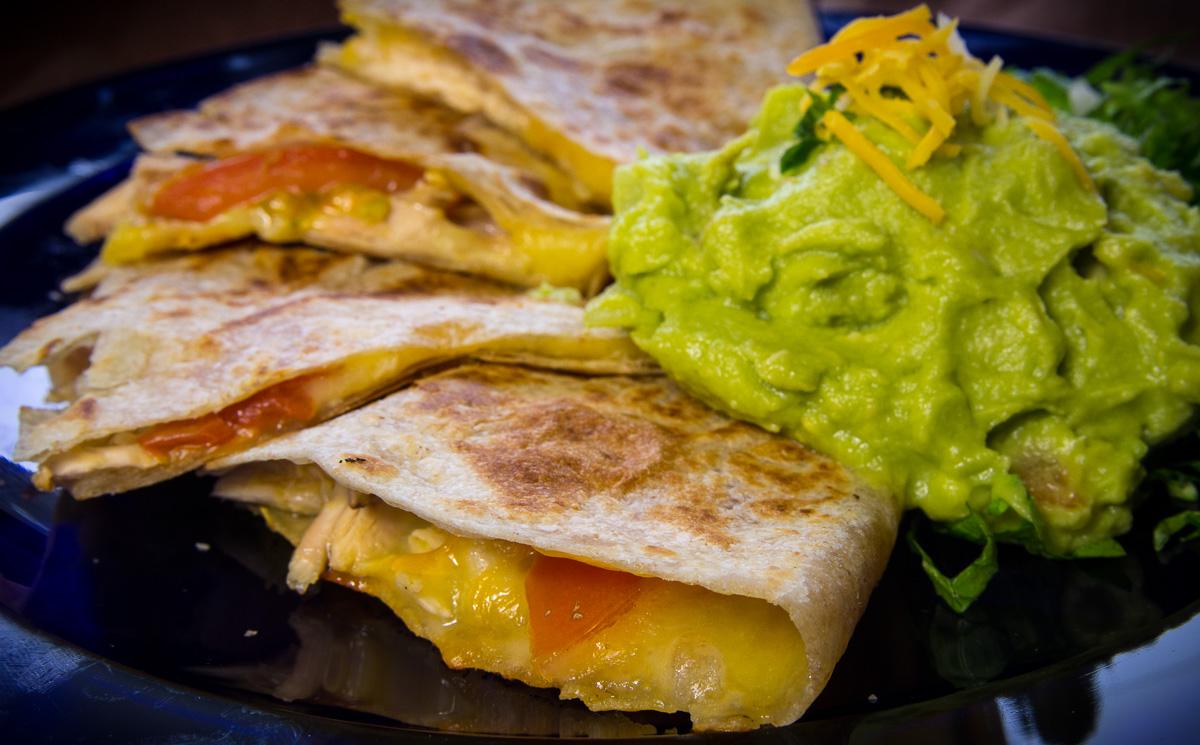 Chicken Quesadillas with guacamole