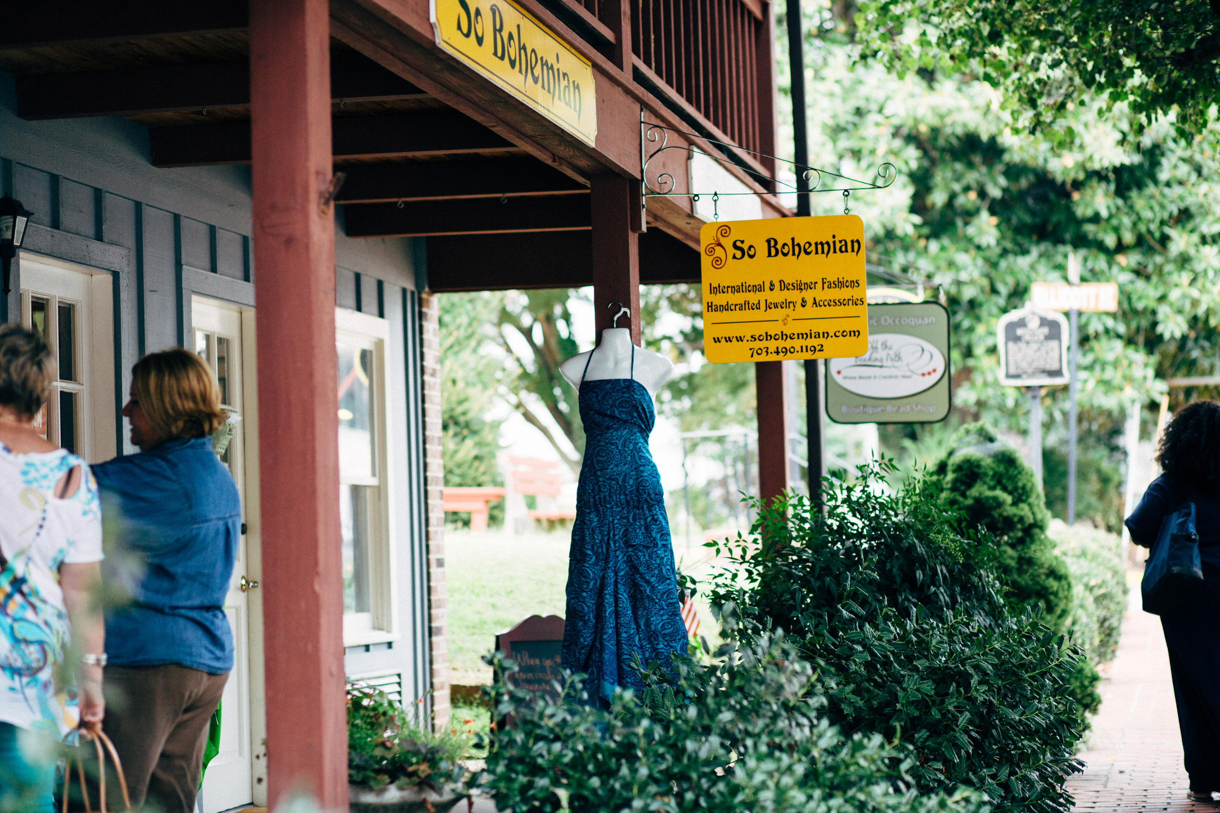 cute Bohemian shop in Historical Occoquan, VA.