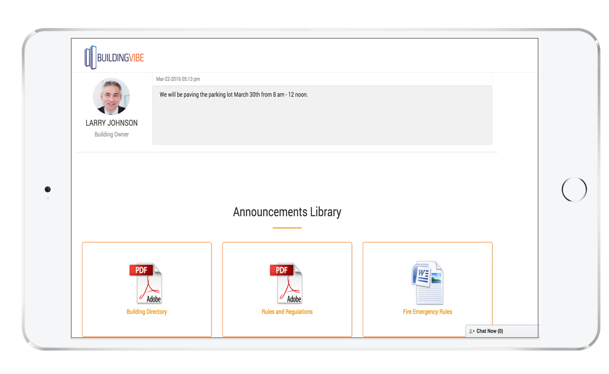 Resource Center - Centralize your building documents, resources and access to applications from your private intranet.Broadcast notifications and alertsShare important documents and fileQuick links to helpful resourcesStaff and tenant directories