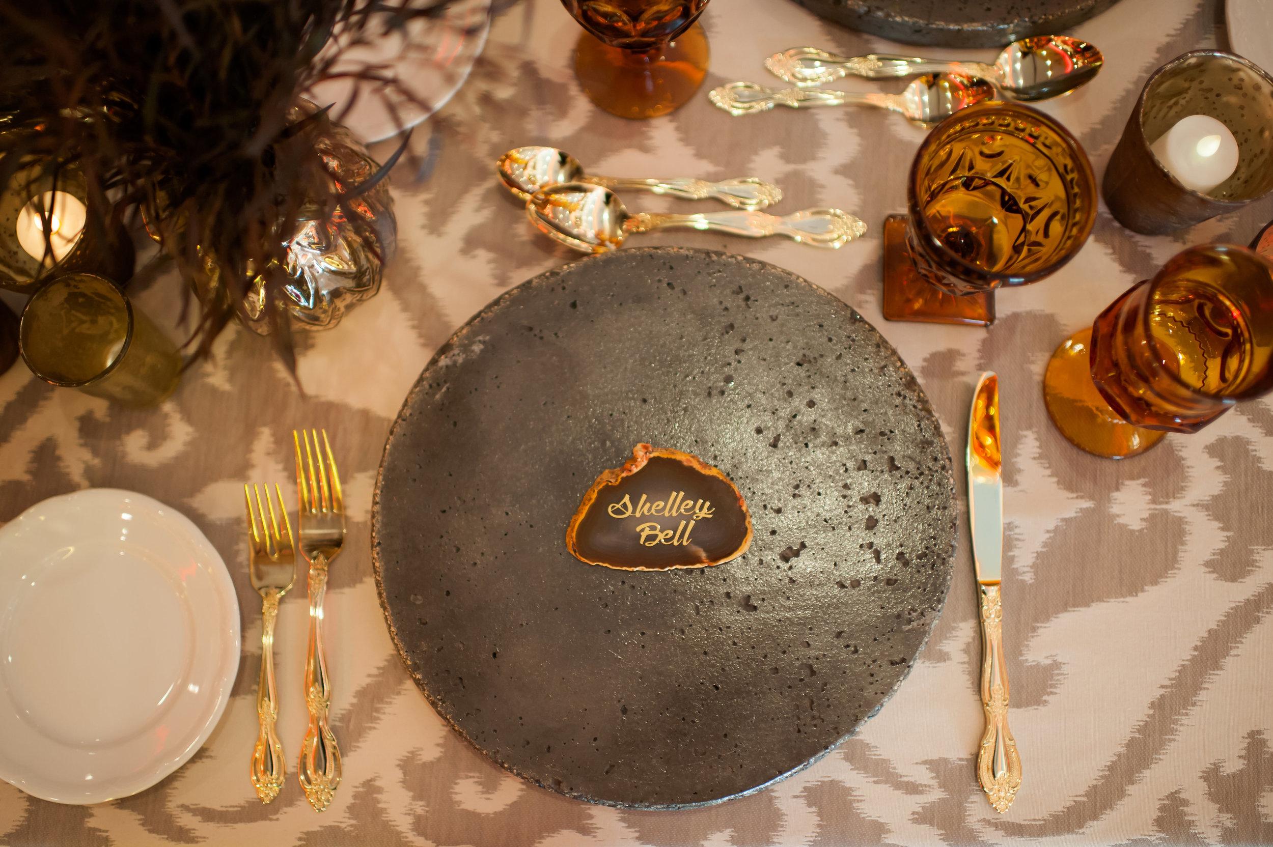 Decorative Lava Stone Charger Plate