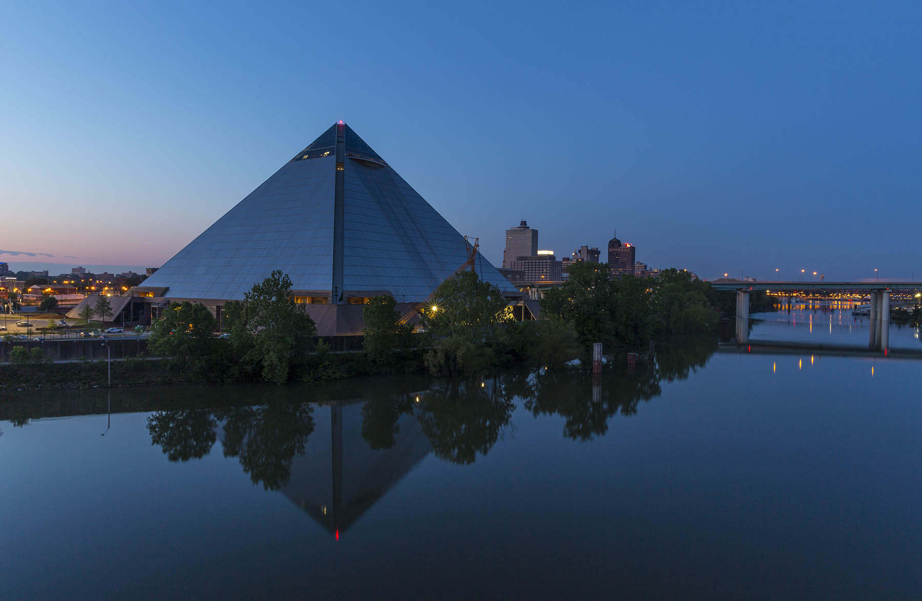 The Pyramid overlooking the Mississippi